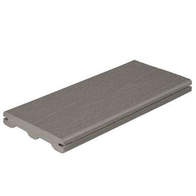 Good Life 1 in. x 5-1/4 in. x 1 ft. Cottage Grooved Edge Capped Composite Decking Board Sample