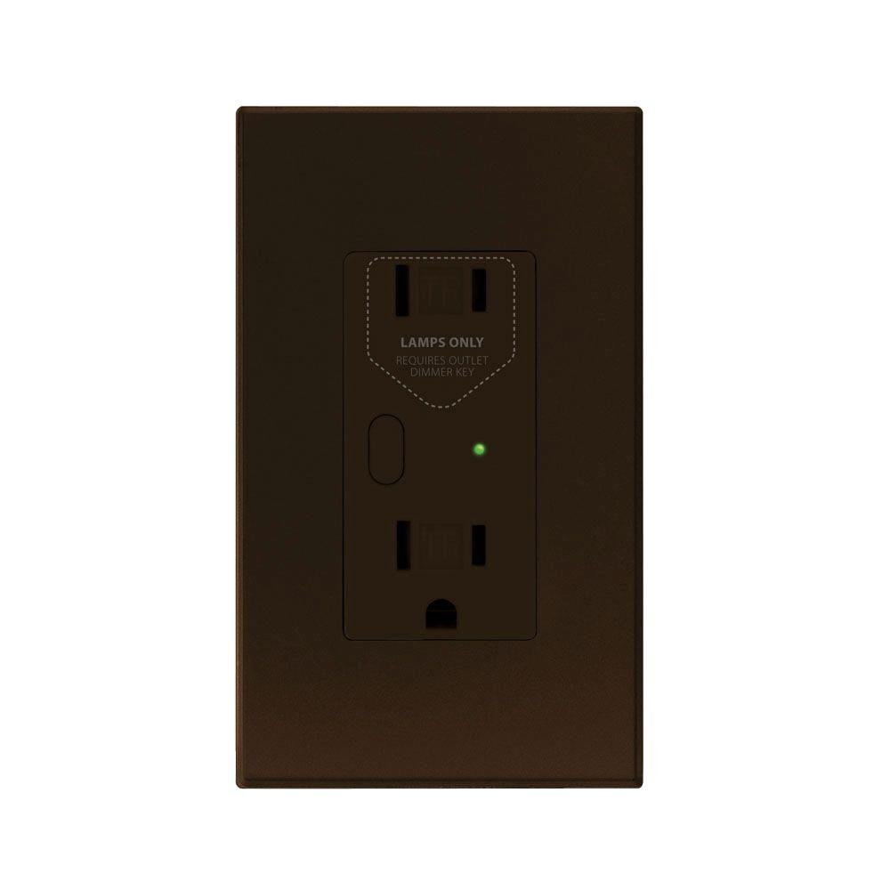 Insteon OutletLinc 2.5 Amp Duplex Outlet, Brown