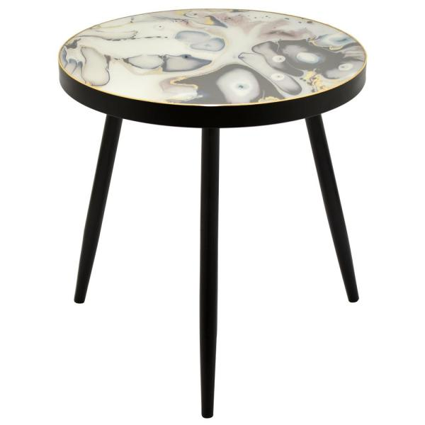 24 in. Black Wood Decorative Table