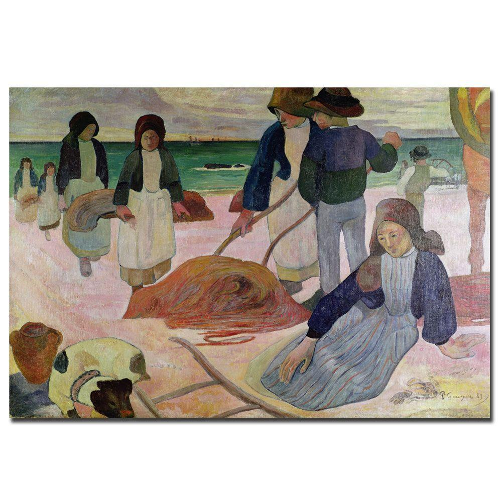 Trademark Fine Art 22 in. x 32 in. Seaweed Gatherers Canvas Art
