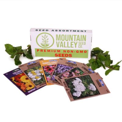 Medicinal and Herbal Tea Garden Seeds Collection Basic Assortment 6 Non-GMO Herb Seed Packs: Chamomile, Lavender, More
