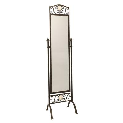 Oversized Brushed Brass Metal Adjustable Mirror Classic Mirror (76.5 in. H X 19 in. W)
