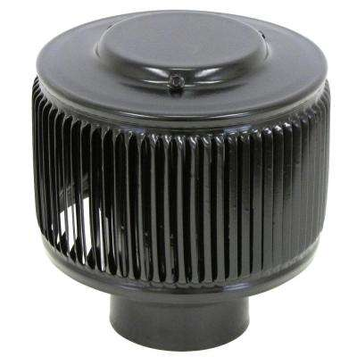 Aura PVC Vent Cap 3 in. Dia Exhaust Vent with Adapter to Fit Over 3 in. PVC Pipe in Black Powder Coat