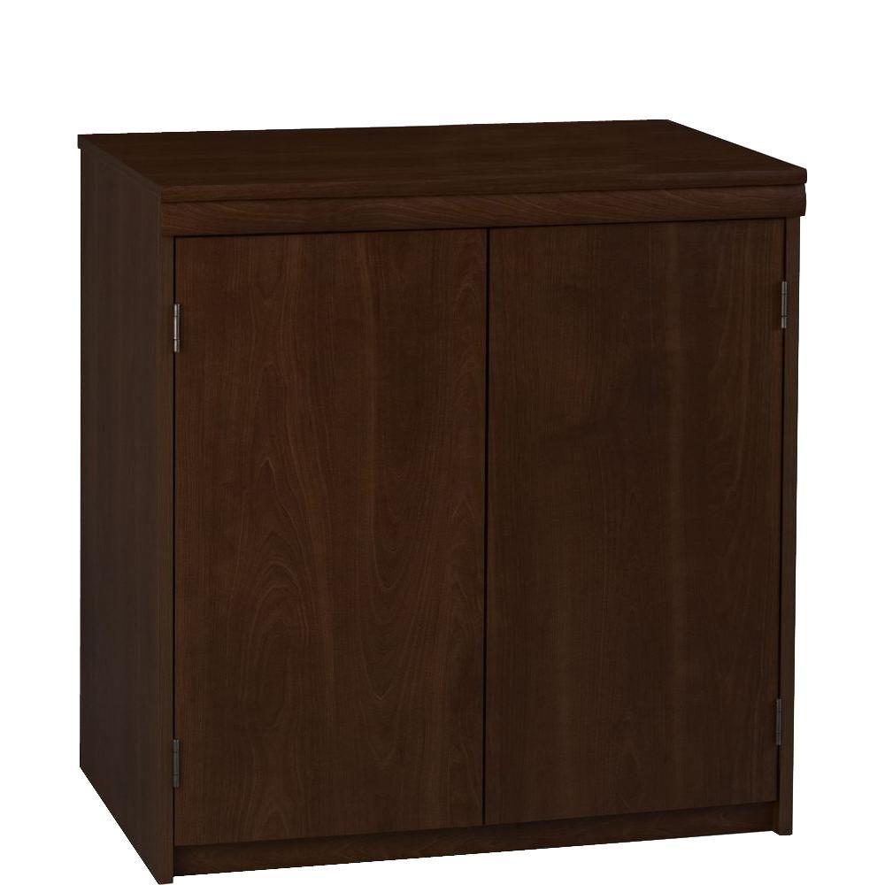 Ameriwood 2-Door Office Storage Cabinet in Resort Cherry