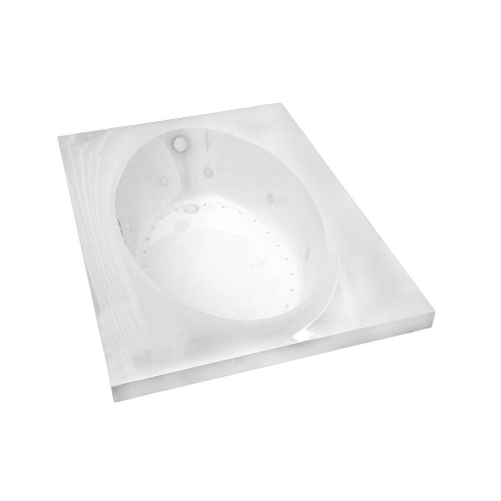 Universal Tubs Imperial 6 ft. Rectangular Drop-in Whirlpool and Air Bath Tub in White