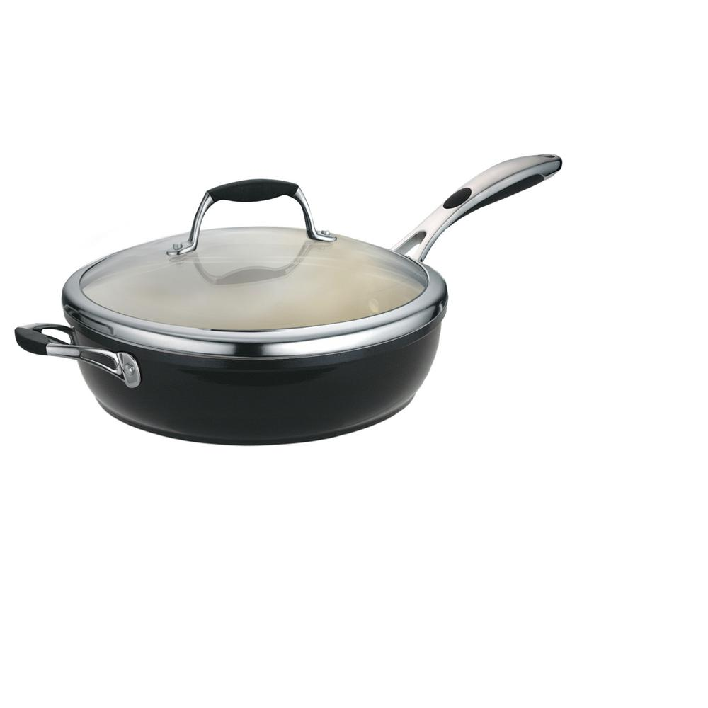 Tramontina Gourmet Cast Iron Skillet With Lid 80131 057ds