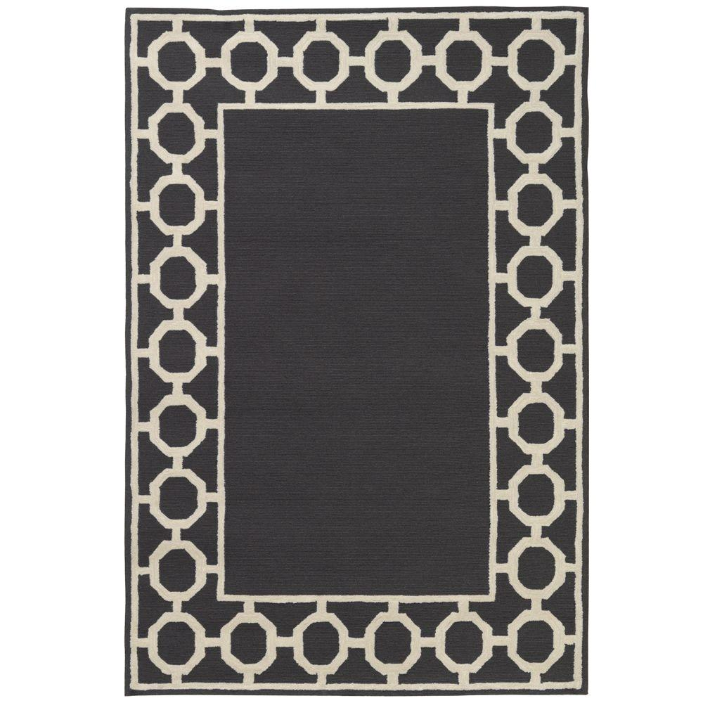 Home Decorators Collection Espana Border Charcoal 8 ft. 3 in. x 11 ft. 6 in. Area Rug