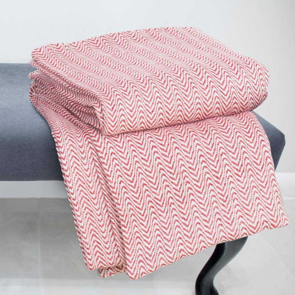 Trademark Global Chevron Brick 100% Egyptian Cotton Full/Queen Blanket 61-88-FQ-BR