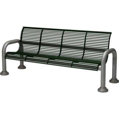 Harbor 6 ft. Contract Bench with Back in Hunter