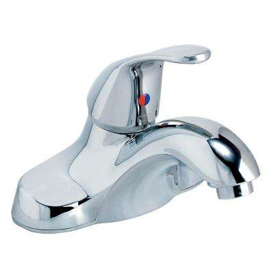 Sarana 4 in. Centerset Single-Handle Bathroom Faucet with Pop-Up Assembly in Polished Chrome