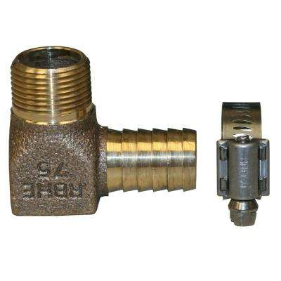 Hydrant Installation Kit Contains 1 RBHENL75 No Lead Bronze 3/4 in. MIP x INS 90-Degree Elbow and 1 M67127 SS Clamp