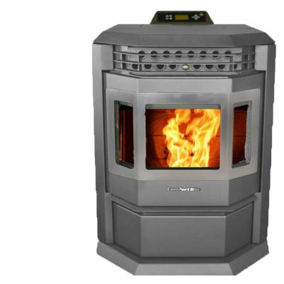 HP22 2,800 sq. ft. EPA Certified Pellet Stove with Auto Ignition and Stainless Steel Trim in Carbon Black