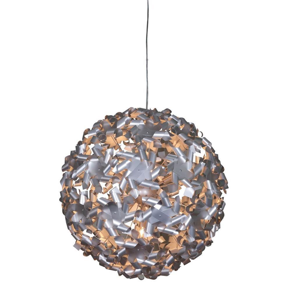 Pinwheel 9-Light Aluminum Pendant