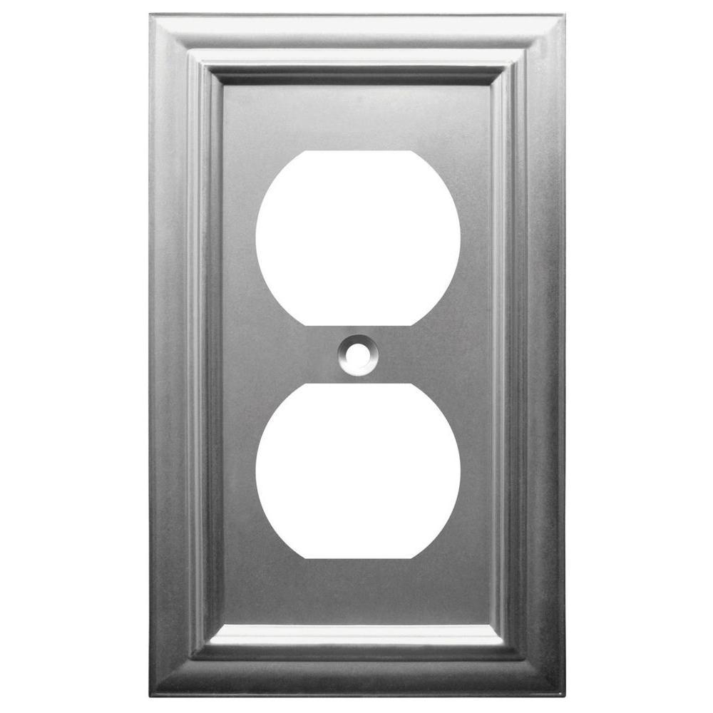 Continental 1 Duplex Wall Plate - Nickel