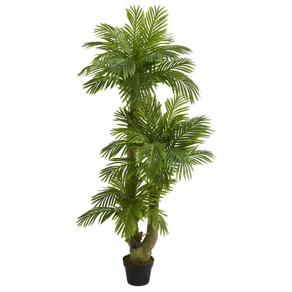 nearly natural indoor 5 ft triple phoenix palm artificial tree 5588 the home depot. Black Bedroom Furniture Sets. Home Design Ideas