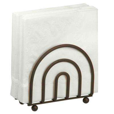 Flat Wire Napkin Holder In Bronze