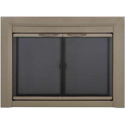Colby Large Glass Fireplace Doors