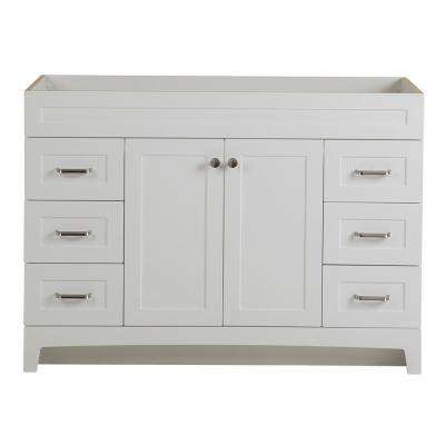 Thornbriar 48 in. W x 21 in. D Bathroom Vanity Cabinet in Polar White