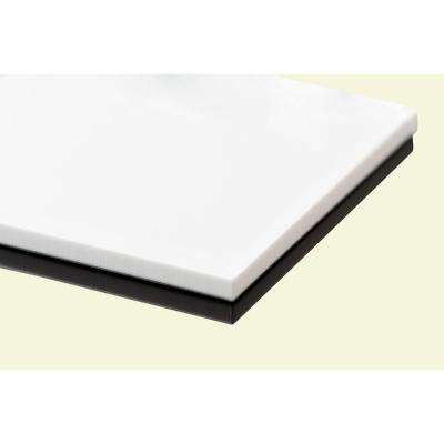 0 118 in. x 48 in. x 48 in. White Acrylic Sheet (2-Pack)