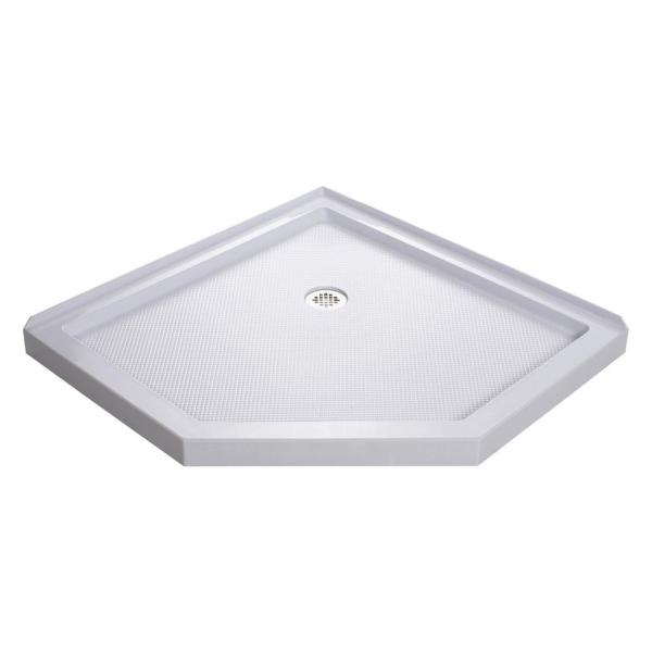 SlimLine 36 in. x 36 in. Neo-Angle Shower Base in White