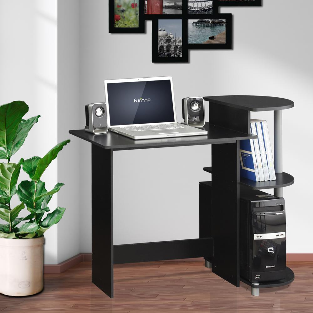 Furinno Compact Black Grey Computer Desk