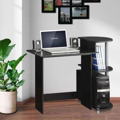 compact blackgrey computer desk