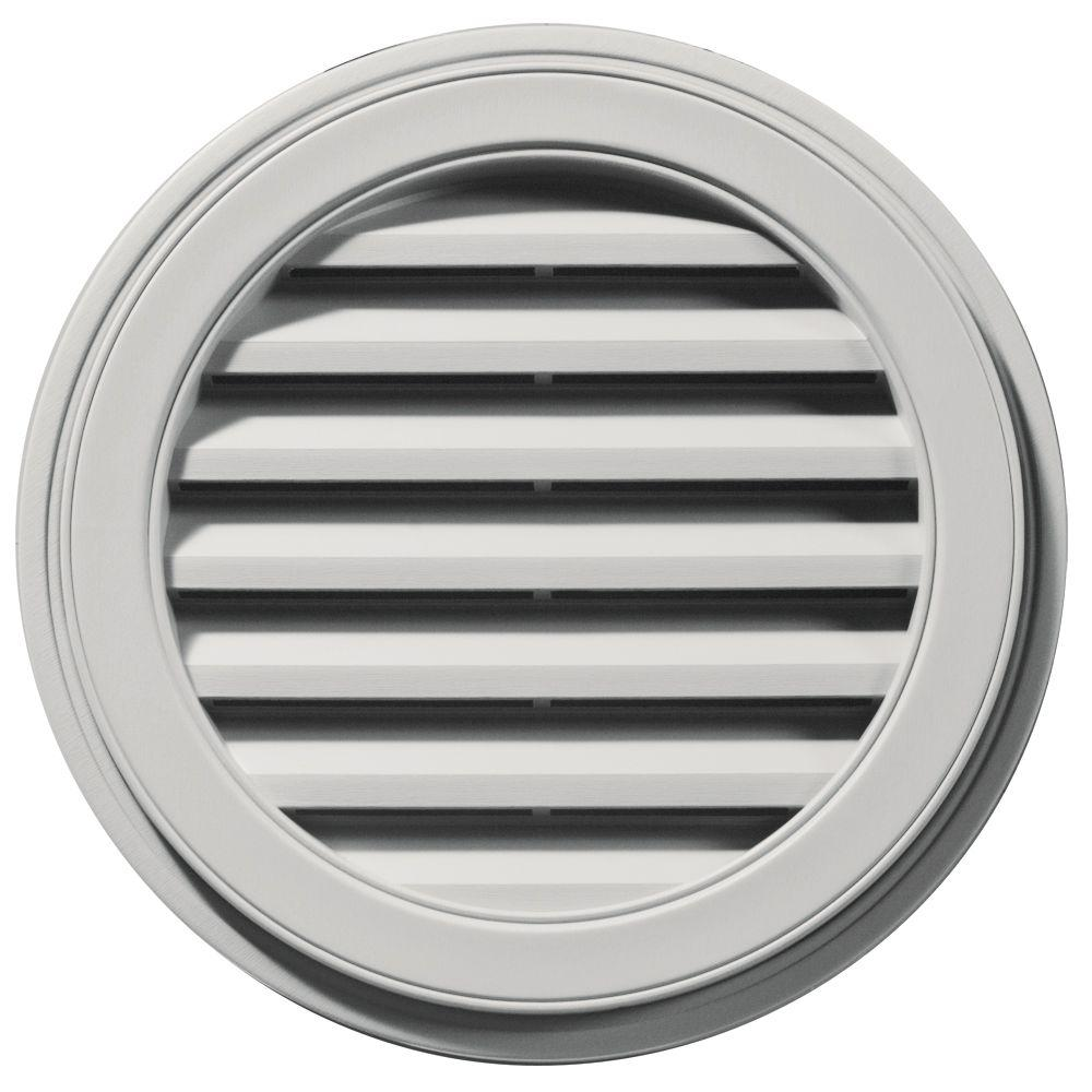 Builders Edge 22 in. Round Gable Vent in Paintable