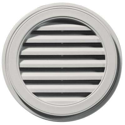 22 in. Round Gable Vent in Paintable