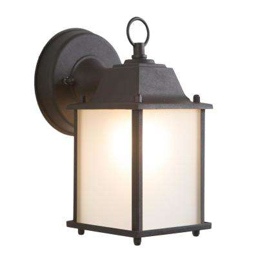 Tara Collection 1-Light Black Outdoor Wall-Mount Lamp