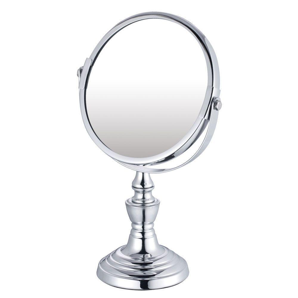 7.125 in. x 10 in. Countertop Bi-View Vanity Makeup Mirror in Chrome