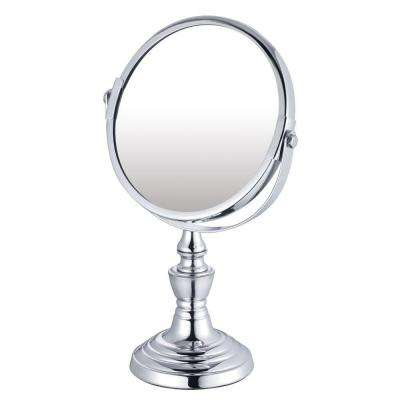 7.125 in. x 10 in. Countertop Bi-View Vanity Makeup Mirror in Chrome