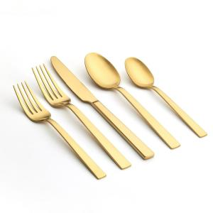 Emma 20-Piece Gold 18/0 Stainless Steel Flatware Set (Service for 4)