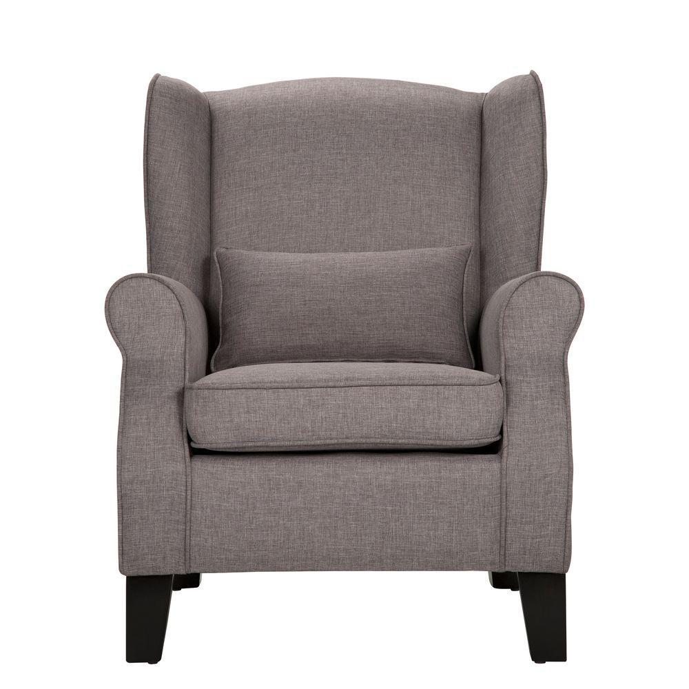 Pradera Smoke Linen Wing Back Arm Chair