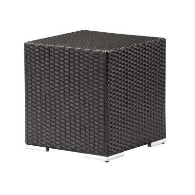 Algarve Plastic Square Black Outdoor Patio Side Table