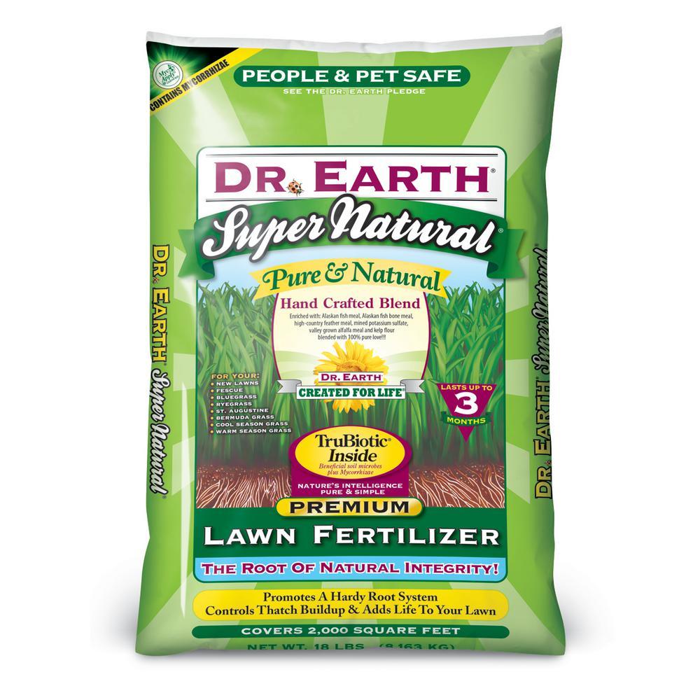 DR. EARTH 18 lb. 2000 sq. ft. Super Natural Lawn ...