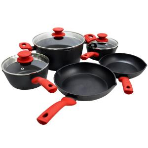 Deals on Weight Watchers Livingston 8-Piece Black Cookware Set