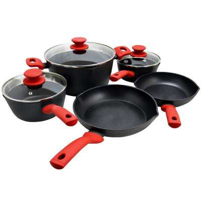 Livingston 8-Piece Black Cookware Set