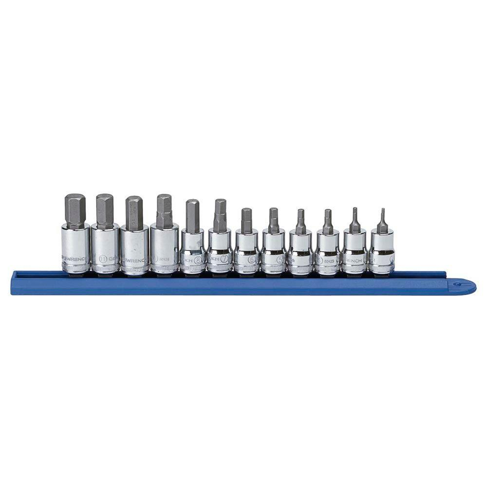 3/8 in. Drive Metric Hex Bit Socket Set (12-Piece)