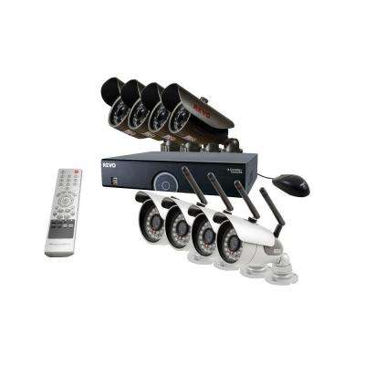 16-Channel 2TB DVR Surveillance System with 4 Wireless Bullet Cameras and 4 Wired Bullet Cameras