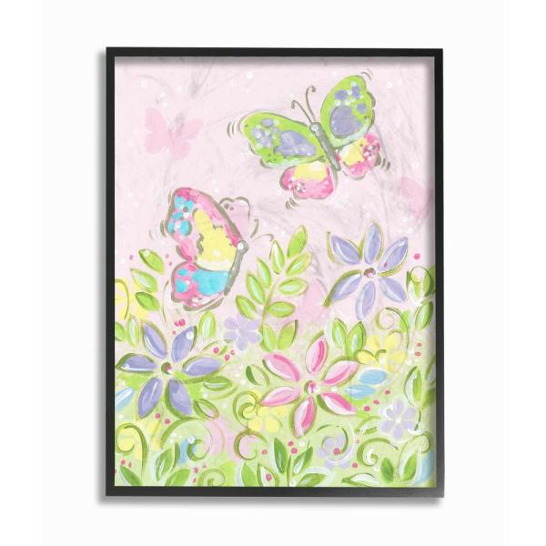 The Stupell Home Decor Collection 11 In X 14 Pastel Butterflies And