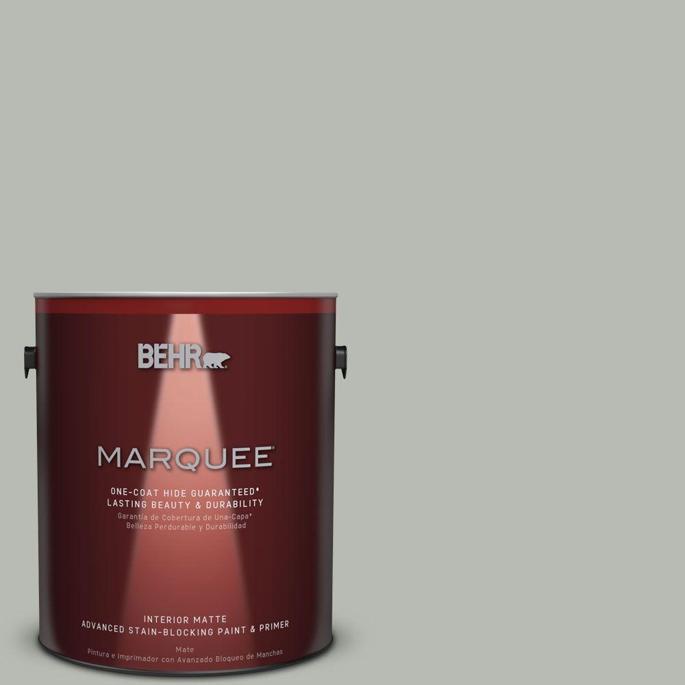 1 gal. #HDC-AC-21 Keystone Gray One-Coat Hide Matte Interior Paint