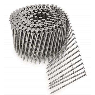 6d 2 in. 15 Wire Coil, Full Round Head, Ring-Shank Siding Nail (1,800-Pack)