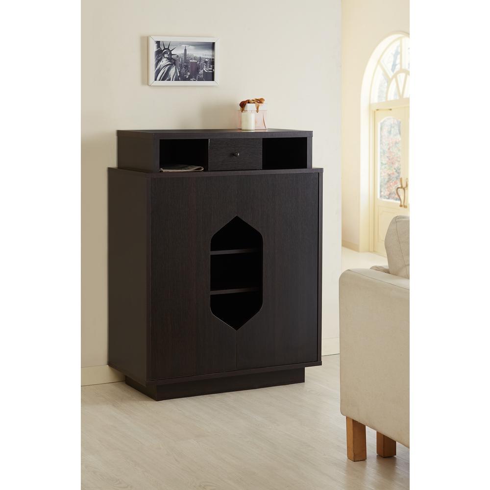 Internet 303391412 Furniture Of America Reylan Espresso Shoe Cabinet