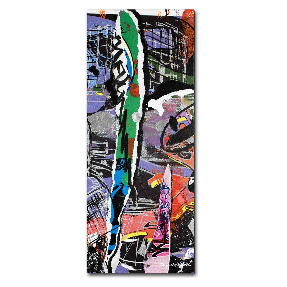10 in. x 19 in. Abstract Canvas Art