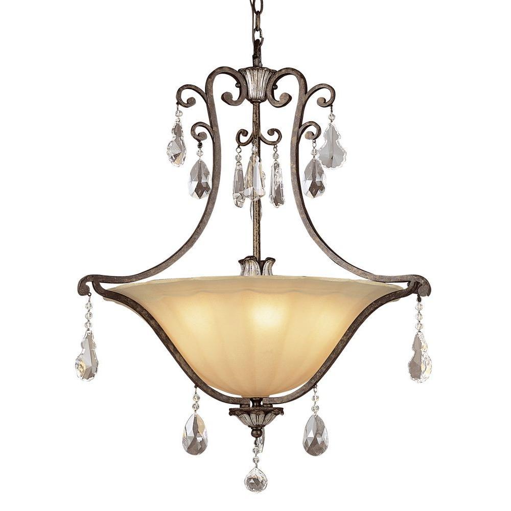 Cabernet 5-Light Antique Bronze Incandescent Ceiling Pendant
