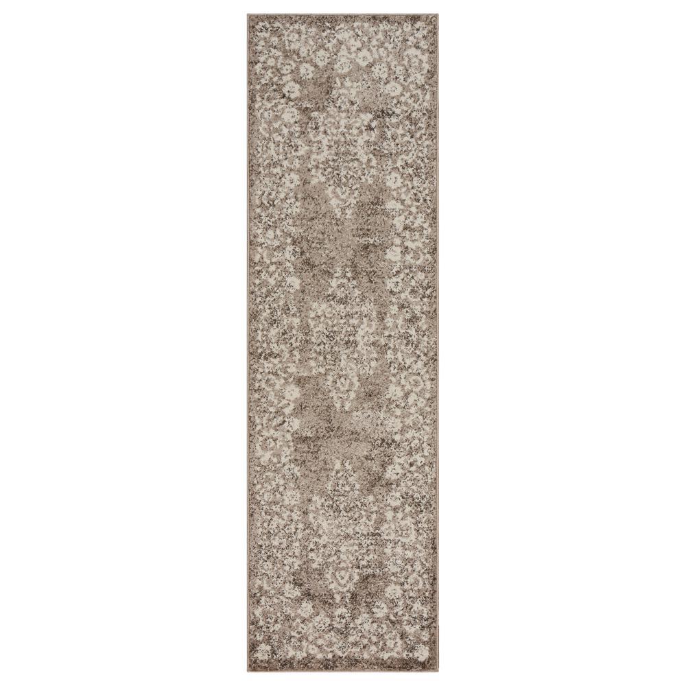 Infinity Stone/Gardenia 2 ft. 1 in. x 7 ft. 5 in. Rectangle Indoor Runner Rug