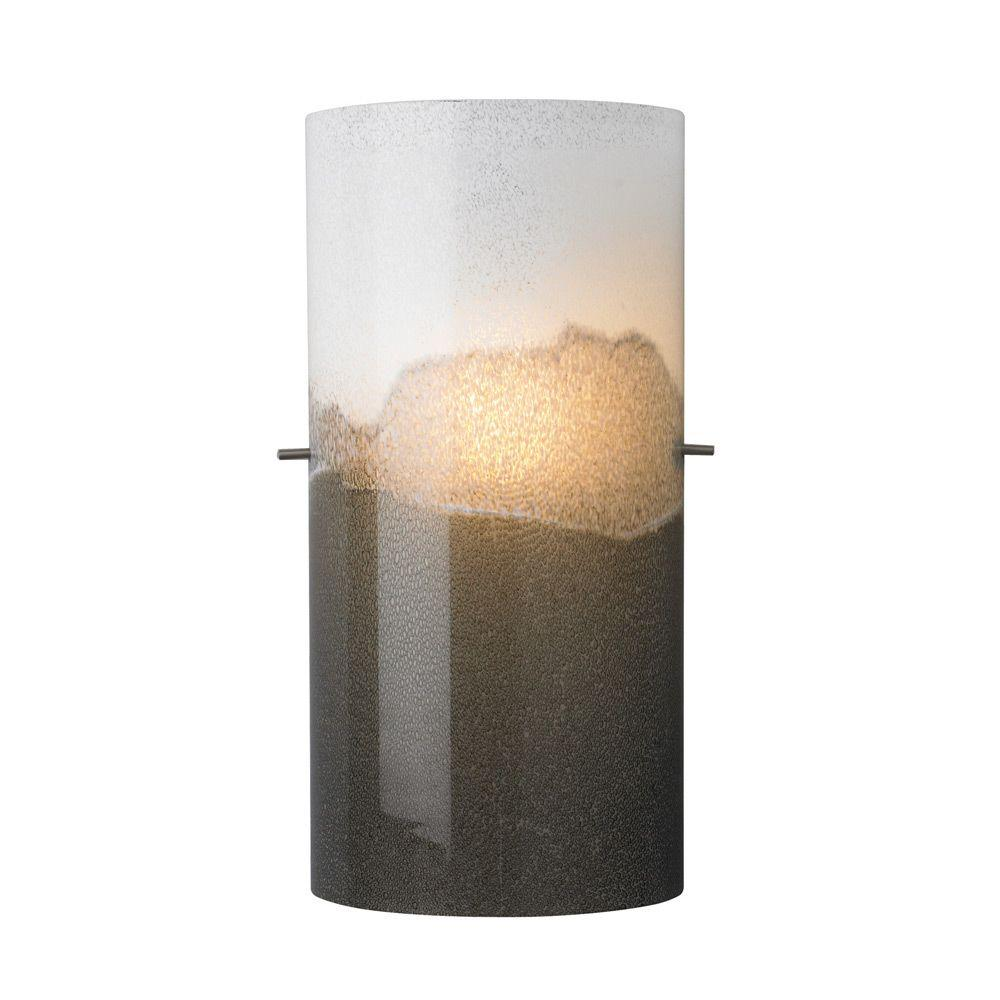 LBL Lighting Dahling 1-Light Bronze Incandescent Wall Light with Gray-Opal Shade