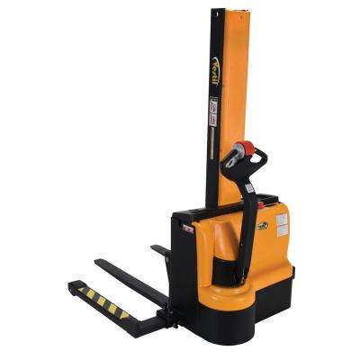 62 in. Narrow Mast Stacker with Power Lift, Power Drive, and Adjustable Forks