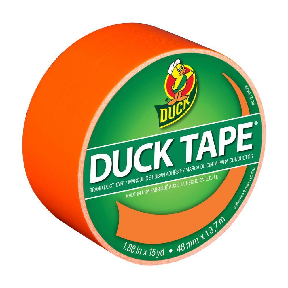 ShurTech 1.88 in. x 15 yds. Neon Orange Duct Tape