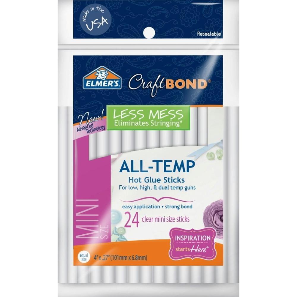 CraftBond 4 in. Mini Hot Glue Sticks (24-Pack)